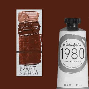 Gamblin 1980 Oil Paint 37ml Burnt Sienna