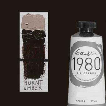 Gamblin 1980 Oil Paint 37ml Burnt Umber