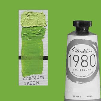 Gamblin 1980 Oil Paint 37ml Cadmium Green