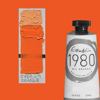 Gamblin 1980 Oil Paint 37ml Cadmium Orange