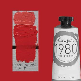 Gamblin 1980 Oil Paint 37ml Cadmium Red Light