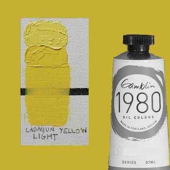 Gamblin 1980 Oil Paint 37ml Cadmium Yellow Light