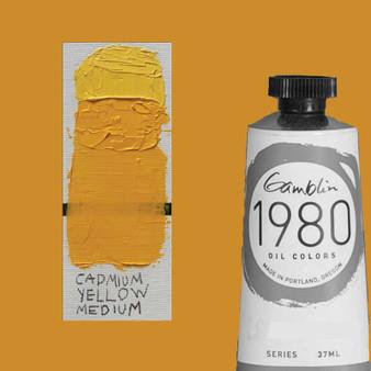 Gamblin 1980 Oil Paint 37ml Cadmium Yellow Medium