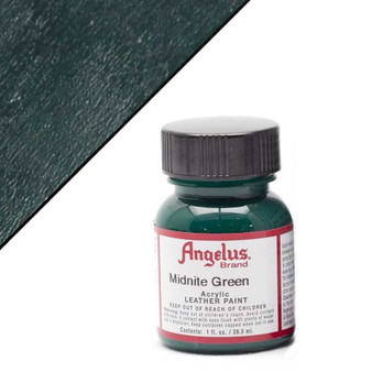 Angelus Leather Paint 1oz Midnite Green
