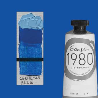 Gamblin 1980 Oil Paint 37ml Cerulean Blue