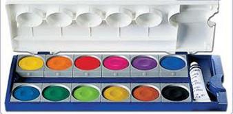 Pelikan Watercolor 12 Set 735Kk/12 Opaque Pans
