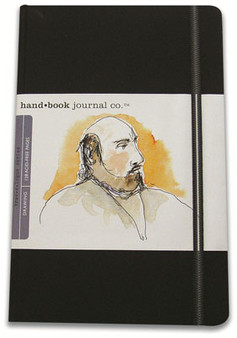 Global Art Hand Book Journal Portrait Pocket Black 5.5x3.5-Inch