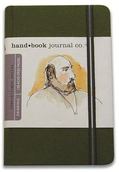 Global Art Hand Book Journal Portrait Pocket Green 5.5x3.5-Inch