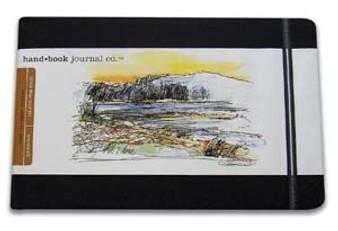 Global Art Hand Book Journal Landscape Pocket Black 3.5x5.5-Inch