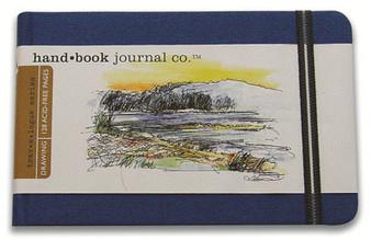 Global Art Hand Book Journal Landscape Pocket Blue 3.5x5.5-Inch