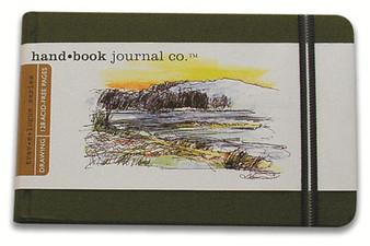 Global Art Hand Book Journal Landscape Pocket Green 3.5x5.5-Inch