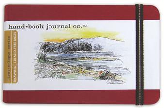 Global Art Hand Book Journal Vermillion Pocket Landscape 5.5x.3.5