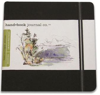 Global Art Hand Book Journal Square Black 5.5x5.5-Inch