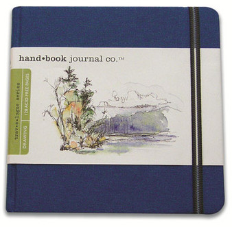 Global Art Hand Book Journal Square Blue 5.5x5.5-Inch