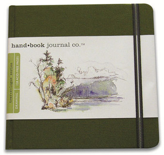 Global Art Hand Book Journal Cadmium Green Square 5.5x5.5