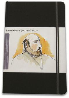 Global Art Hand Book Journal Portrait Large Black 8.25x5.5-Inch