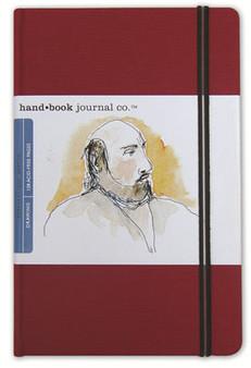 Global Art Hand Book Journal Vermillion Lg Port 8.25x5.5