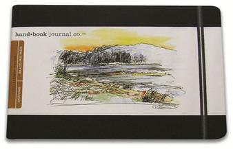 Global Art Hand Book Journal Landscape Large Black 8.25x5.5-Inch