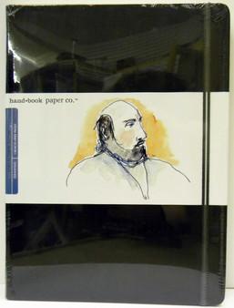 "Global Art Hand Book Journal Extra Large Portrait 10.5""x 8.25"" Black"