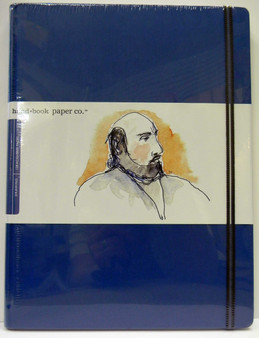 "Global Art Hand Book Journal Extra Large Portrait 10.5""x8.25"" Ultramarine Blue"