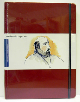 "Global Art Hand Book Journal Extra Large Portrait 10.5""x8.25"" Vermillion"