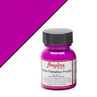 Angelus Neon Leather Paint 1oz Paradise Purple