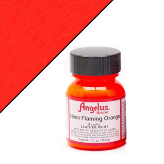 Angelus Neon Leather Paint 1oz Flaming Orange