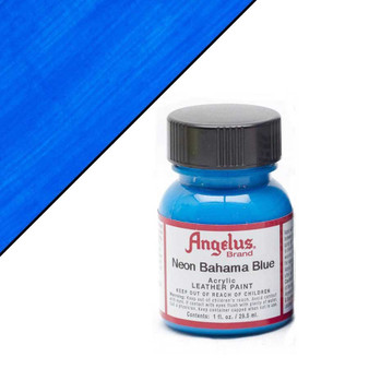 Angelus Neon Leather Paint 1oz Bahama Blue