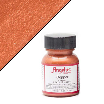 Angelus Leather Paint 1oz Metallic Copper