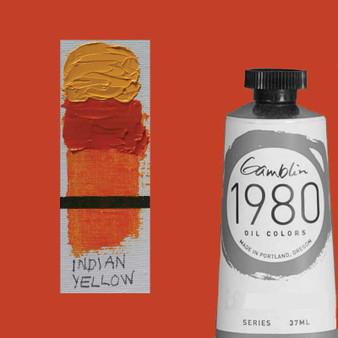 Gamblin 1980 Oil Paint 37ml India Yellow