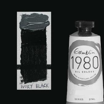 Gamblin 1980 Oil Paint 37ml Ivory Black