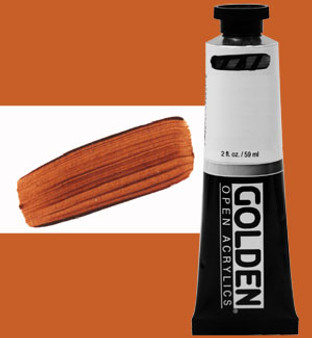 Golden Open Acrylic 2oz Transparent Brown Iron Oxide