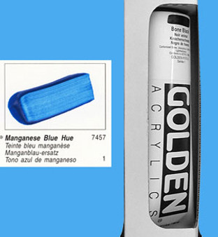 Golden Open Acrylic 5oz Manganese Blue Hue