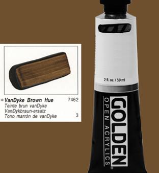Golden Open Acrylic 2oz Vandyke Brown Hue