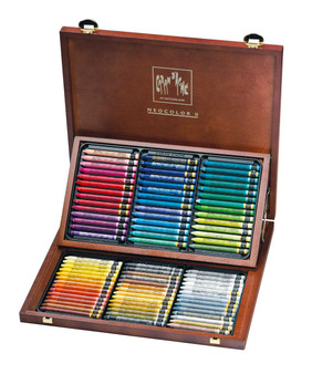 Caran d'Ache Neocolor II Wood Box Set of 84 Colors