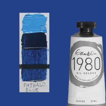 Gamblin 1980 Oil Paint 37ml Phthalo Blue