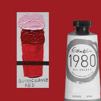 Gamblin 1980 Oil Paint 37ml Quinacridone Red