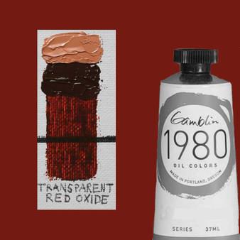 Gamblin 1980 Oil Paint 37ml Transparent Red Oxide