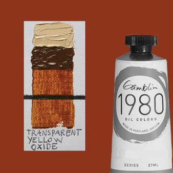 Gamblin 1980 Oil Paint 37ml Transparent Yellow Oxide