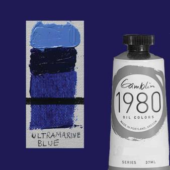 Gamblin 1980 Oil Paint 37ml Ultramarine Blue