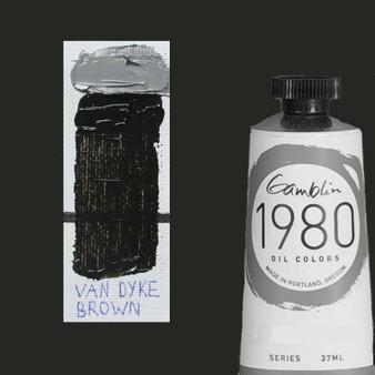 Gamblin 1980 Oil Paint 37ml Van Dyke Brown