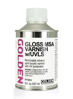 Golden Artist Colors Acrylic Varnish: 8oz MSA Varnish Gloss (U.S. Only)