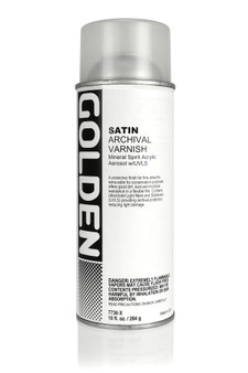 Golden Artist Colors Acrylic Varnish: 12oz Spray Varnish Satin (U.S. Only)