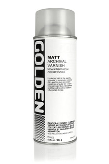 Golden Artist Colors Acrylic Varnish: 12oz Spray Varnish Matte (U.S. Only)
