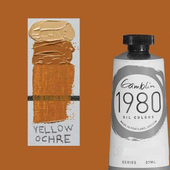 Gamblin 1980 Oil Paint 37ml Yellow Ochre