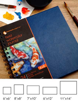 Hand Book Journal Co. Field Book Hardbound Watercolor 8x8