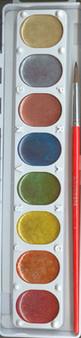 Prang Metallic Watercolor set of 8 colors