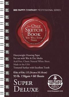 Bee Paper Sketch Pad Aquabee 808 Super Deluxe4x6 60sh