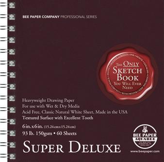 Bee Paper Sketch Pad Aquabee 808 Super Deluxe 6x6 60sh