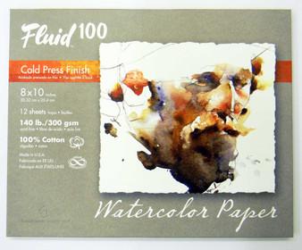 """Fluid 100 Pochette 140lb Cold Press 8x10"""""""